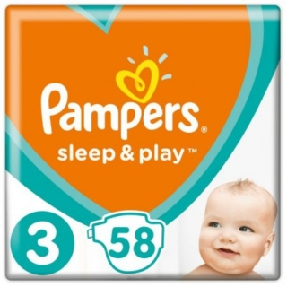 Pampers Sleep & play midi 58 ks